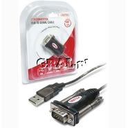 Konwerter USB -> RS232 DB9M 1.4m Unitek Y-105 przedstawia grafika.