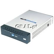 Router Linksys RV042-EU 2x10/100Mbps (LAN), 2x WAN, VPN przedstawia grafika.