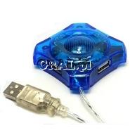 Hub USB 4-porty bez zasilacza przedstawia grafika.