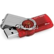 PenDrive 8GB USB 2.0 Kingston DataTraveler 101 G2 Red przedstawia grafika.