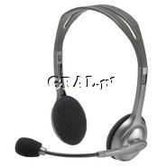 Sluchawki Logitech Headset H110 przedstawia grafika.