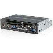 """Czytnik kart pamieci 3,5"""" USB 3.0 ModeCom CR-109 Czarny przedstawia grafika."""