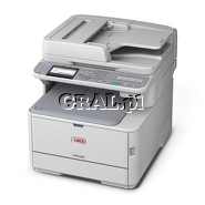 OKI MC362DN (Laserowa kolorowa drukarka, Kopiarka, Skaner - dwustrostronny, Faks, LAN, USB) przedstawia grafika.