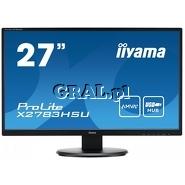 "Iiyama 27"" LCD ProLite X2783HSU-B1 (4ms, LED, HDMI, DVI, FullHD, czarny) przedstawia grafika."
