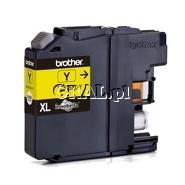 Wklad drukujacy Brother LC-525-XL-Y Yellow (1300 str) przedstawia grafika.