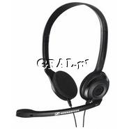 Słuchawki z mikrofonem Sennheiser PC 3 Chat przedstawia grafika.