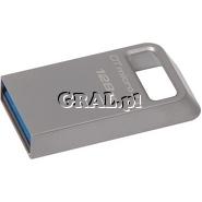 Pendrive 128GB USB 3.1/3.0 Kingston DataTraveler Micro przedstawia grafika.
