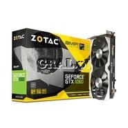 GeForce GTX 1060 Zotac 6GB, DDR5, 3xDP, HDMI, DVI, PCI-E, AMP 1556/8000 przedstawia grafika.