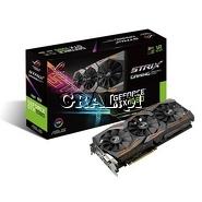 GeForce GTX1080 Asus, 8GB, DDR5X, 2xDP, 2xHDMI, DVI, PCI-E, Strix Advanced 1670/10010 przedstawia grafika.