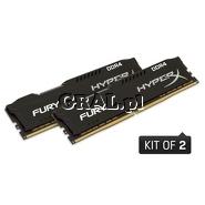 DDR4 16GB 2666MHz Kingston HyperX Fury Black (2x8GB,  CL16) przedstawia grafika.
