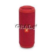 JBL Flip 4 Red Bluetooth przedstawia grafika.