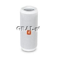 JBL Flip 4 White Bluetooth przedstawia grafika.