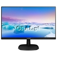 """Philips 23.8"""" LCD 243V7QJABF (5ms, IPS, LED, DisplayPort, HDMI, D-SUB, FullHD, Głośniki)   przedstawia grafika."""