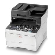 OKI MC563DN (Laserowa kolorowa drukarka, Kopiarka, Skaner - dwustrostronny, Faks, LAN, USB) przedstawia grafika.