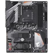 Gigabyte B450 AORUS PRO, AMD B450, DVI, HDMI, DDR4, SATA3, 2xM2, RAID, ATX, AM4 przedstawia grafika.