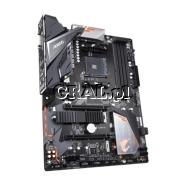 Gigabyte B450 AORUS Elite, AMD B450, DVI, HDMI, DDR4, SATA3, 2xM2, RAID, ATX, AM4 przedstawia grafika.