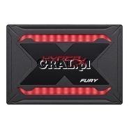"""HyperX Fury RGB SSD 480GB, 2.5"""", SATA3, 550/480 MB/s przedstawia grafika."""