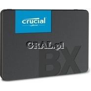 "Crucial BX500 SSD 480GB, 2.5"", SATA3, 540/500 MB/s przedstawia grafika."
