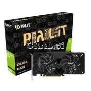 ˙PALIT GeForce GTX 1660 STORMX 6G GDDR5, HDMI, DP, DVI przedstawia grafika.