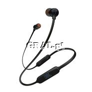 ˙Słuchawki JBL T110BT Bluetooth Black przedstawia grafika.