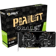 Palit GeForce GTX1660 Super GP, 6GB, DDR6, PCI-E, DP, HDMI, DVI przedstawia grafika.