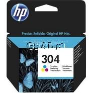 Wklad drukujacy HP No 304 Color N9K05AE przedstawia grafika.