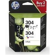 Wkłady drukujące HP No 304 Black+ Color Combo Pack przedstawia grafika.