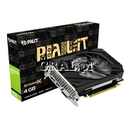 Palit GeForce GTX1650 StormX D6, 4GB, DDR6, PCI-E, DP, HDMI, DVI przedstawia grafika.