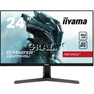 """Monitor Iiyama G2470HSU-B1 G-Master 23.8"""" (IPS, 2xUSB, 165Hz, DP, HDMI, głośniki) przedstawia grafika."""