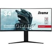 """Monitor Iiyama GB3466WQSU-B1 G-Master 34"""" (VA, USB 3.0, 144Hz, 2xDP, 2xHDMI, zakrzywiony, głośniki) przedstawia grafika."""
