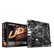 Gigabyte B460M DS3H V2, Intel H470, DSUB, DVI-D, HDMI, 4xDDR4, RAID, M.2, mATX, LGA1200 przedstawia grafika.